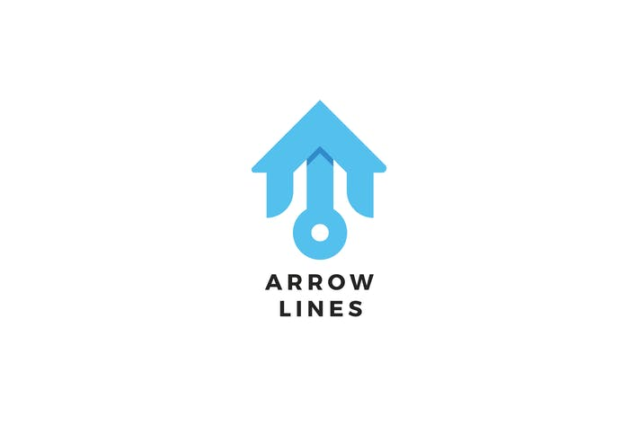 Cover Image For Arrow Lines Logo Template
