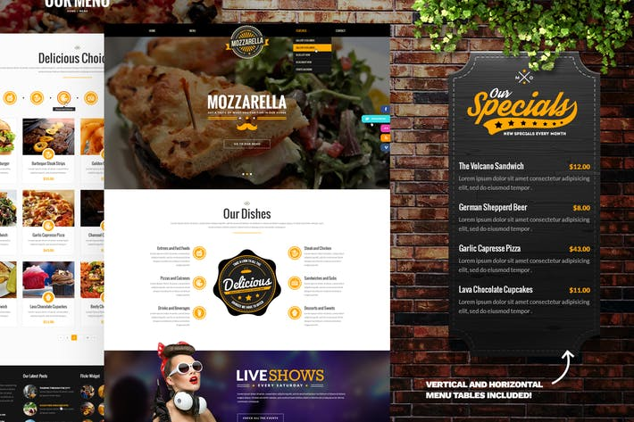 Thumbnail for Mozzarella Cafe Bar PSD Template