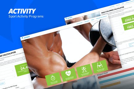 Activity - Sport and Fitness Site Template