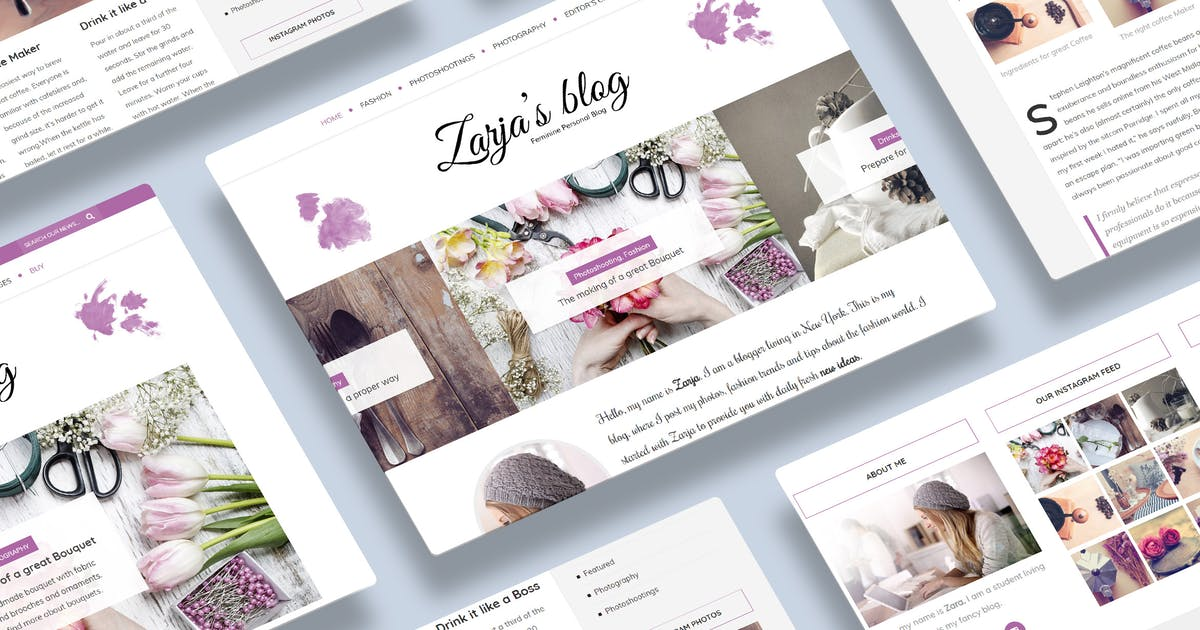 Download Zarja - WordPress Blog Theme by gljivec