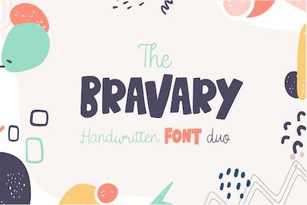 Bravary - Handwritten Font Duo