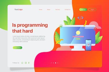 Programming Hard - Banner & Landing Page
