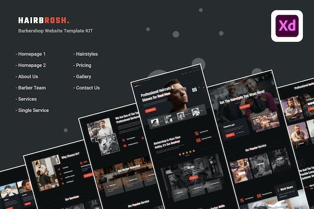 Hairbrosh - Barbershop Website & UI Kits