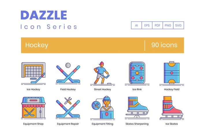 90 Hockey Icons - Dazzle Series