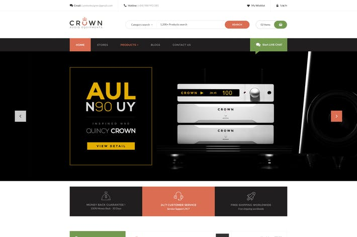 Thumbnail for Crown - Audio Equipments PSD Template