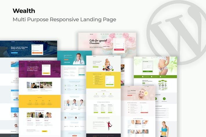 Thumbnail for Wealth – Multi-Purpose Landing Page WordPress Them