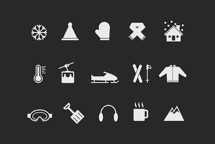15 Winter- und Schnee-Icons