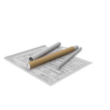 Planos de casa con tubo de cartón