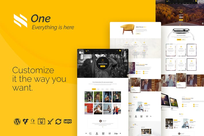 Thumbnail for One - Business Agency Events WooCommerce Theme