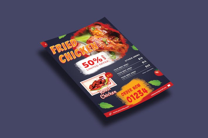 Thumbnail for Hot Fried Chicken – Flyers Template
