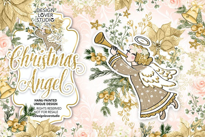 Thumbnail for Christmas Angel design