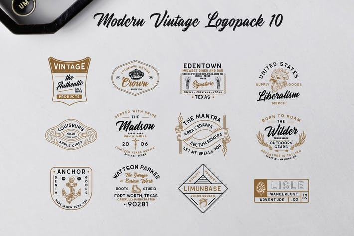 Thumbnail for Modern Vintage Logopack 10
