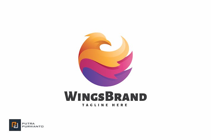Thumbnail for Wings Brand - Logo Template