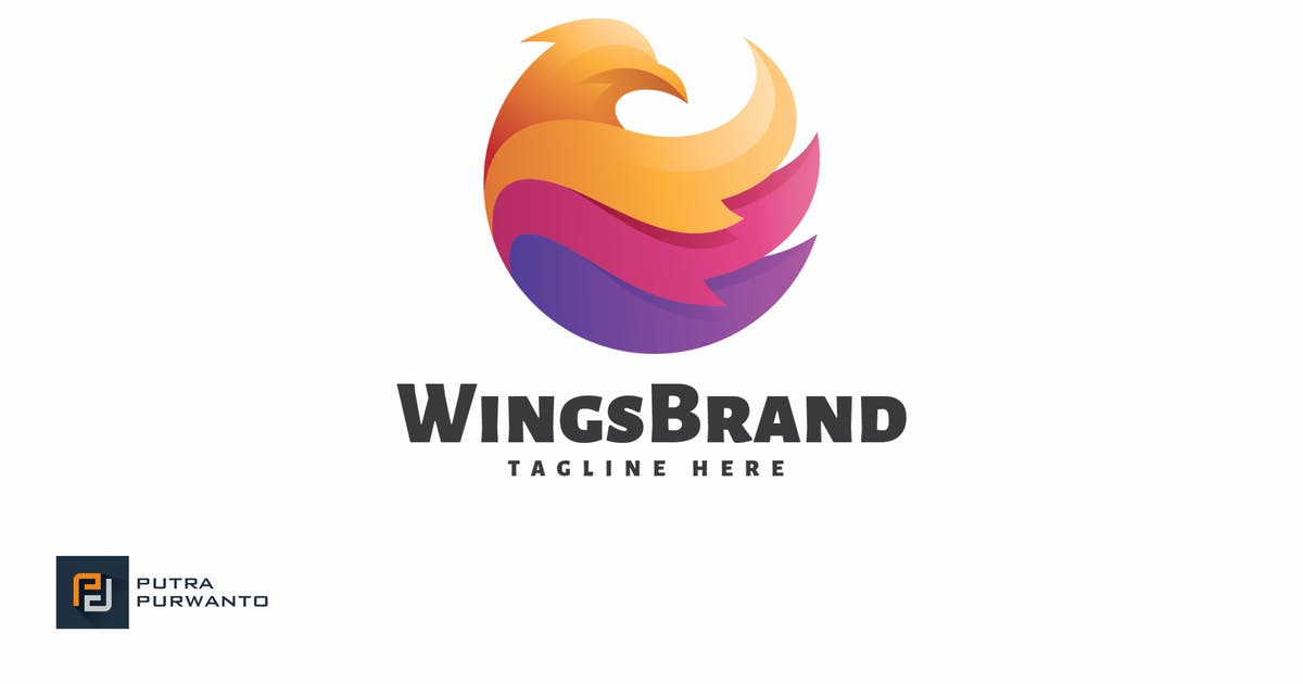 Download Wings Brand - Logo Template by putra_purwanto