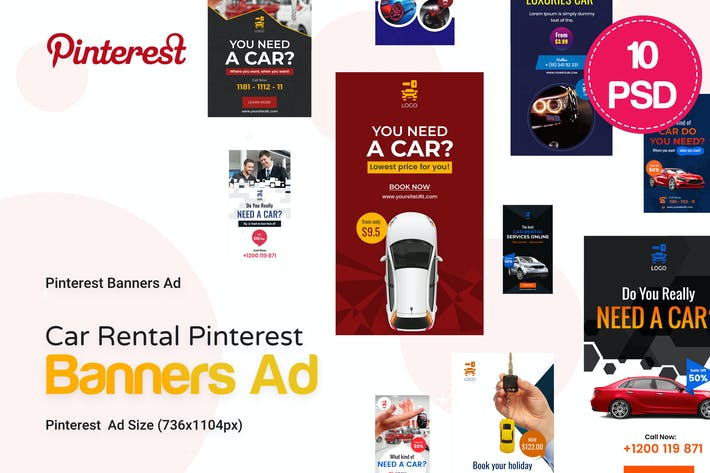 Thumbnail for Car Rental Pinterest Ad