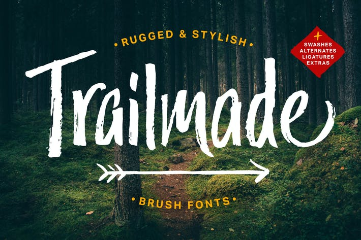 Thumbnail for Trailmade Font Family