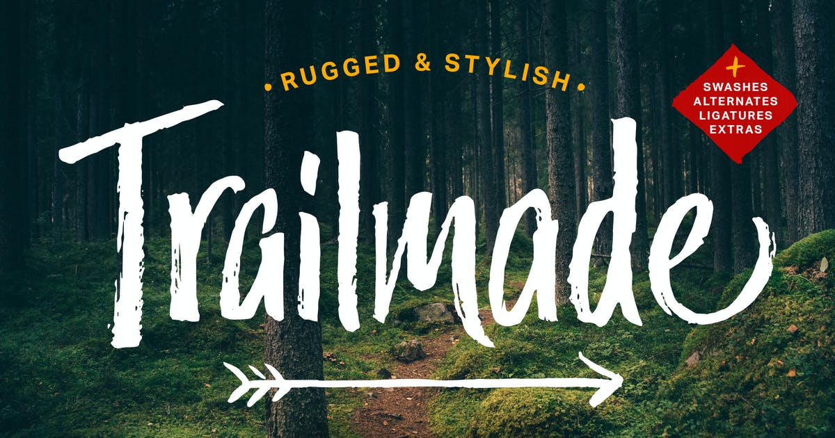 Download Trailmade Font Family by adamladd