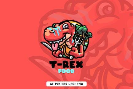 T-Rex Monster Cartoon Logo