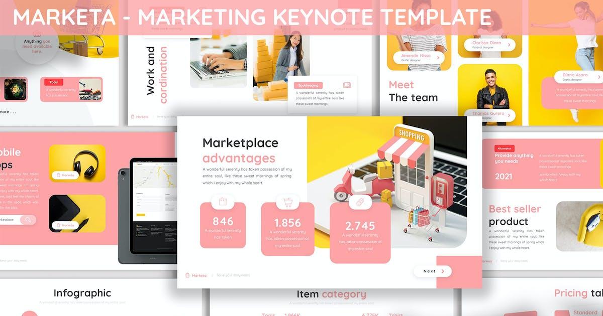 Download Marketa - Marketing Plan Keynote Template by SlideFactory