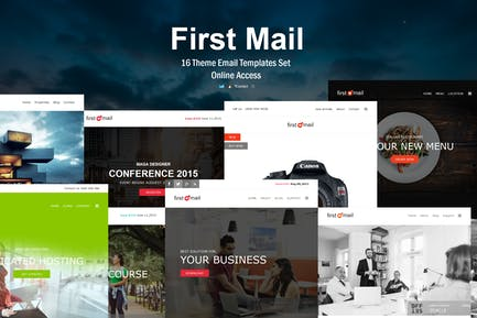First Mail - 16 Unique Theme Email Templates Set