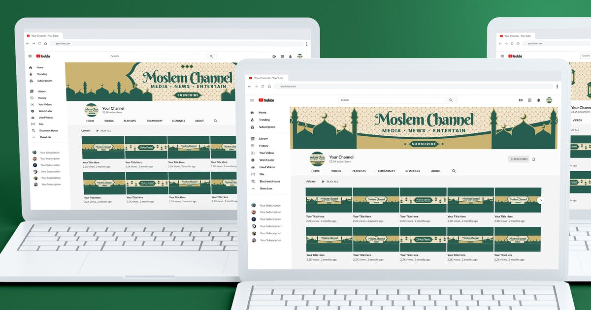 Download Youtube Channel Art - Islamic by SlideFactory