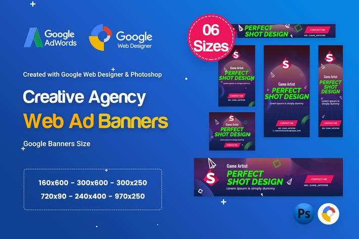 Thumbnail for Creative, Startup Agency Banners HTML5 D41 - GWD