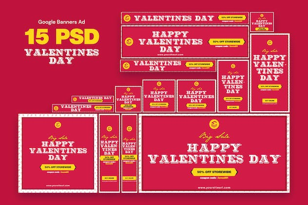 Valentines Day Banners Ad