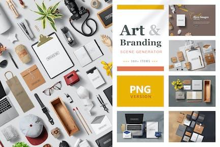 Art & Branding Scene Generator - PNG Version