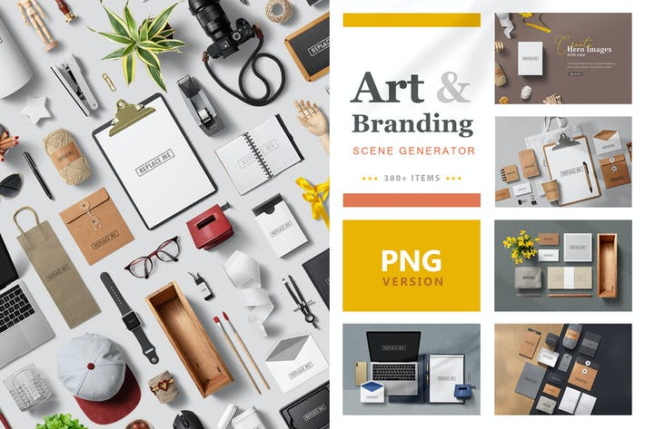 Thumbnail for Art & Branding Scene Generator - PNG Version