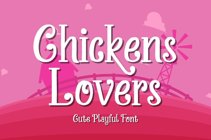 Thumbnail for Chickens Lovers - Police d'affichage mignon et ludique