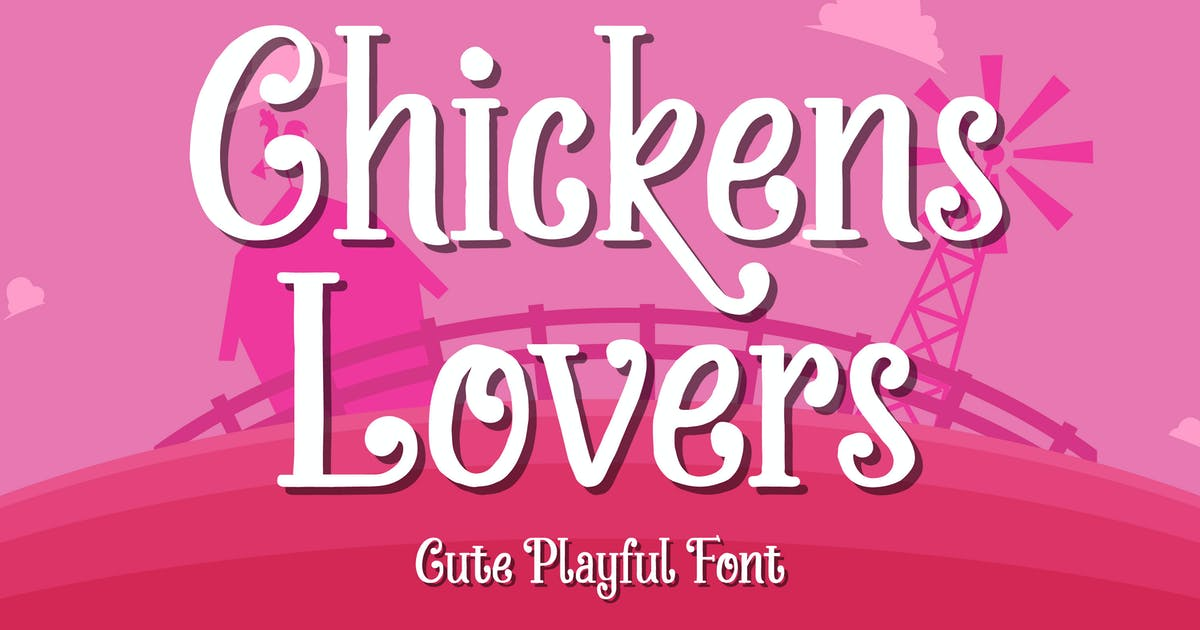 Download Chickens Lovers - Cute & Playful Display Font by Alterzone