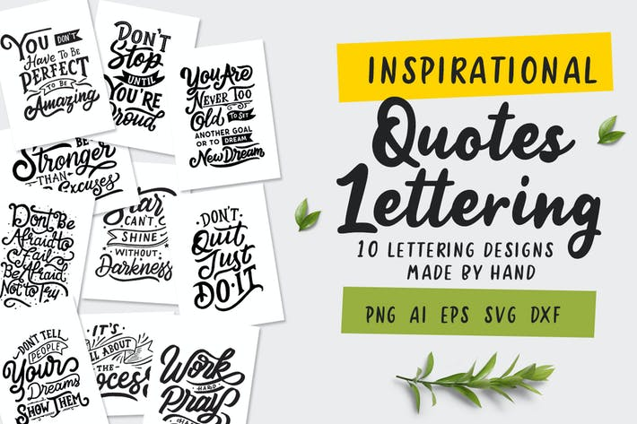 Thumbnail for Inspirational Quotes Lettering