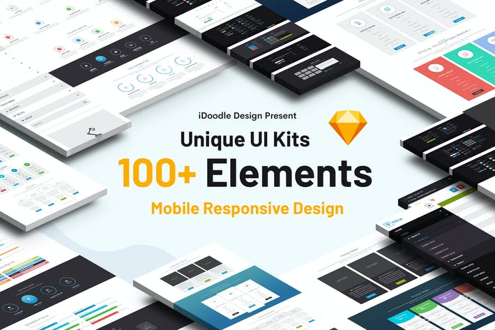 Thumbnail for UI Kits Creative Agency & Mobile Responsive Sketch