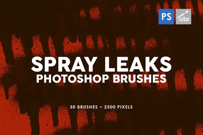 Thumbnail for 30 Spray Leaks Photoshop Stamp Brushes