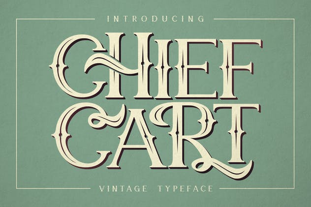Chief Cart Vintage Typeface - product preview 10