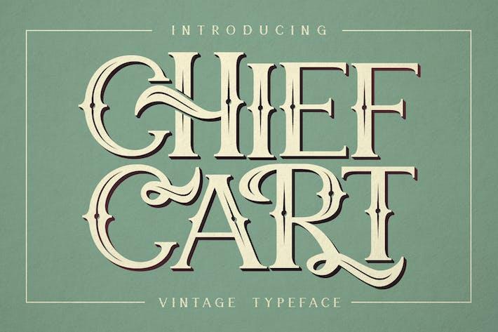 Chief Cart Vintage Typeface