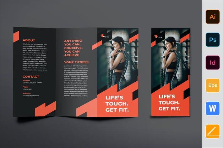 Gym Training Brochure Trifold