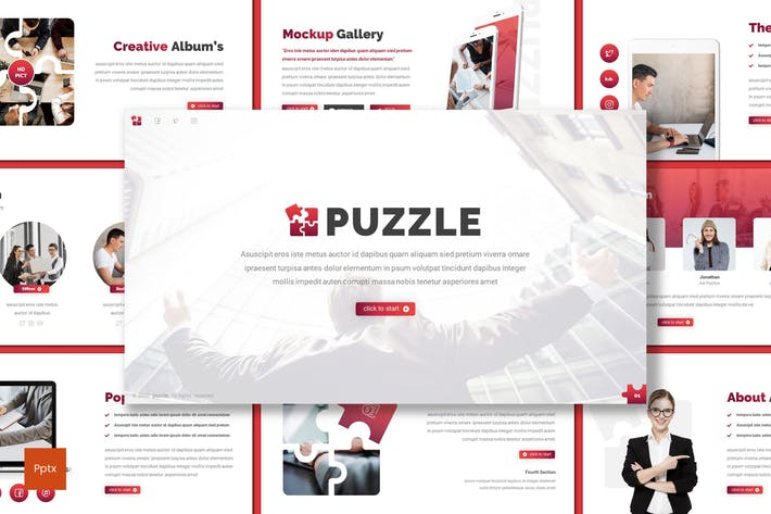 Thumbnail for Puzzle - Business Powerpoint Template