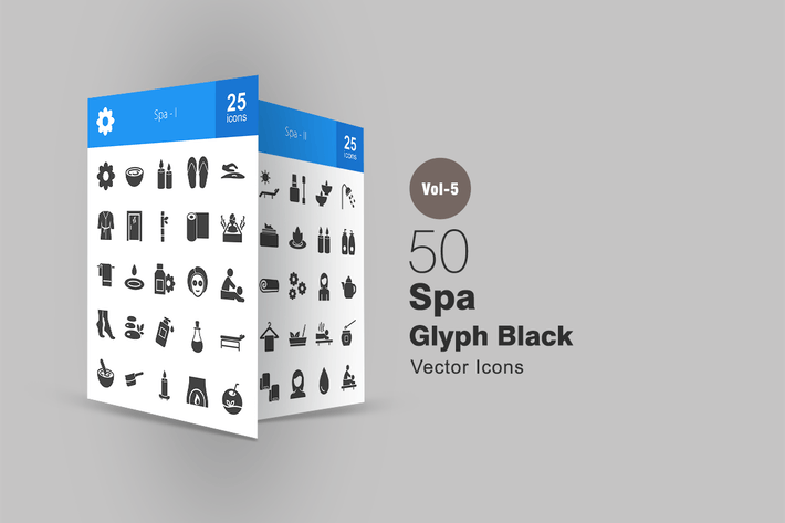 Thumbnail for 50 Spa Glyph Icons