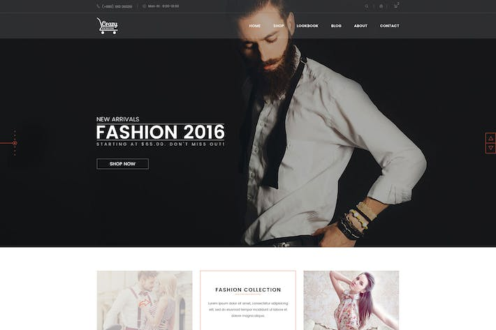 Thumbnail for Crazy Fashion eCommerce PSD Template