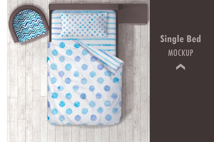 Thumbnail for Single bed Mockup