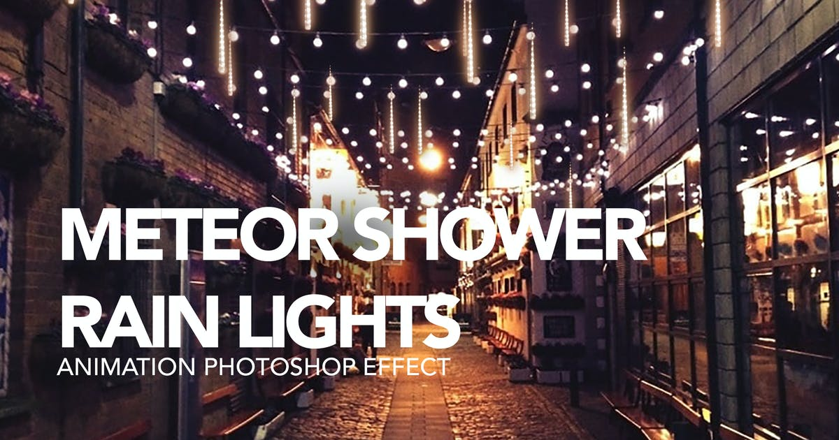 Download Gif Animated Meteor Shower Light Photoshop Action by sreda