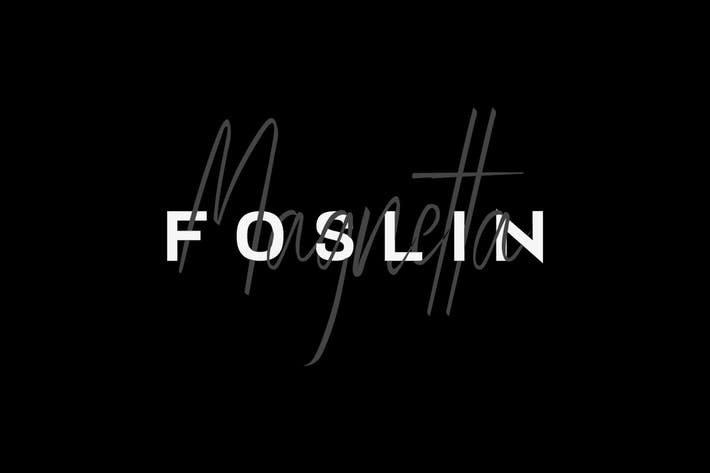 FOSLIN & MAGNETTA - Luxury / Signature Font Duo