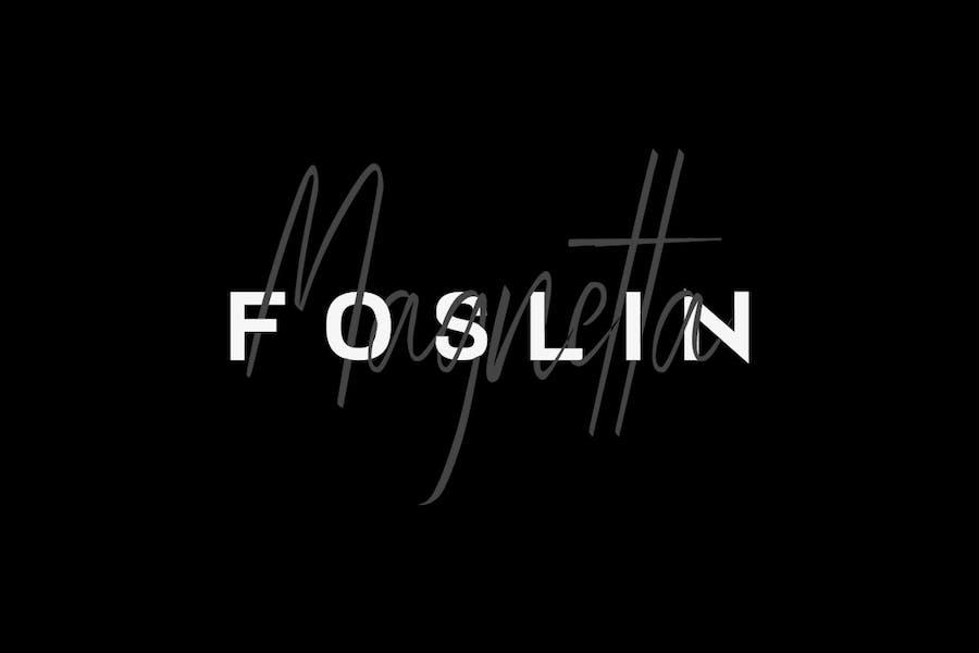 FOSLIN & MAGNETTA - Luxury / Signature Font Duo