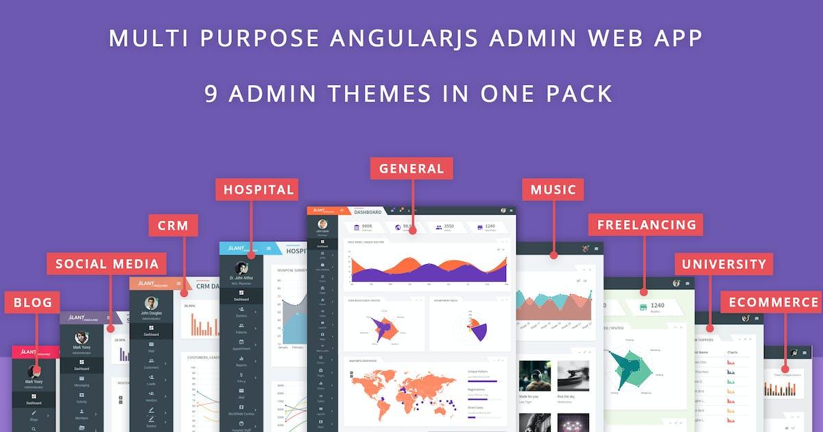 Download Slant - Multi Purpose AngularJS Admin Web App by themepassion