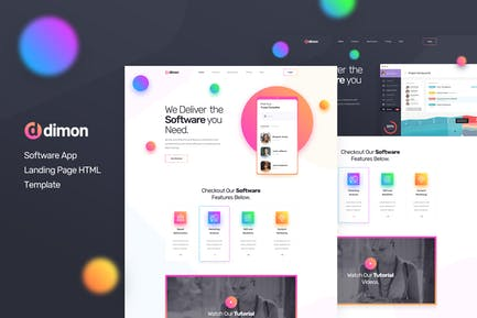 Dimon - Software App Landing Page HTML Template