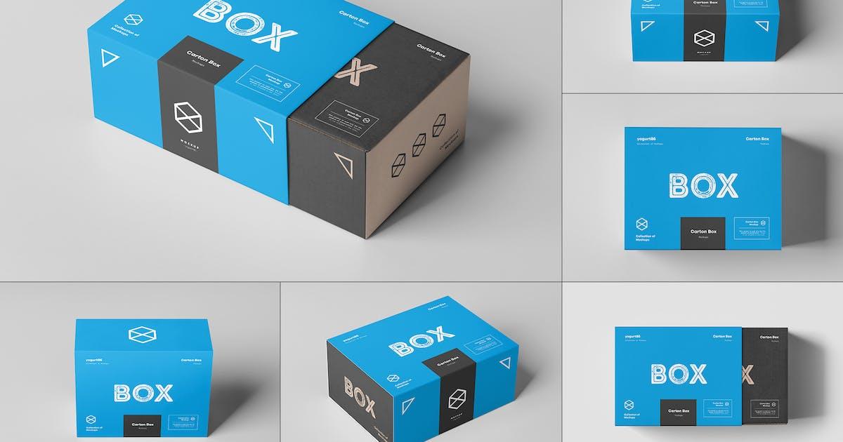 Download Carton Box Mock-up 135x105x60 & Wrapper by yogurt86