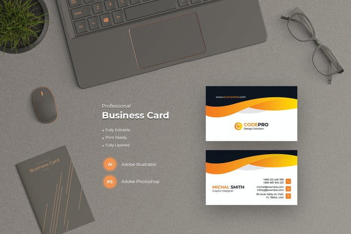 Thumbnail for Stylish Business Card Template