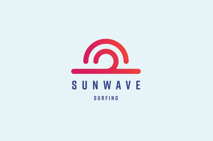 Thumbnail for Sun Wave Logo Template