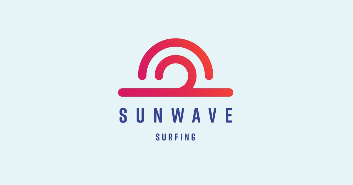 Sun Wave Logo Template by MuseFrame